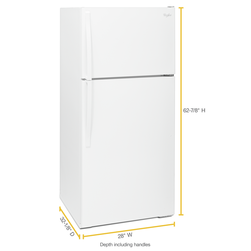 "Whirlpool 28"" Wide Top-Freezer Refrigerator with Freezer Temperature Control WRT134TFDW"