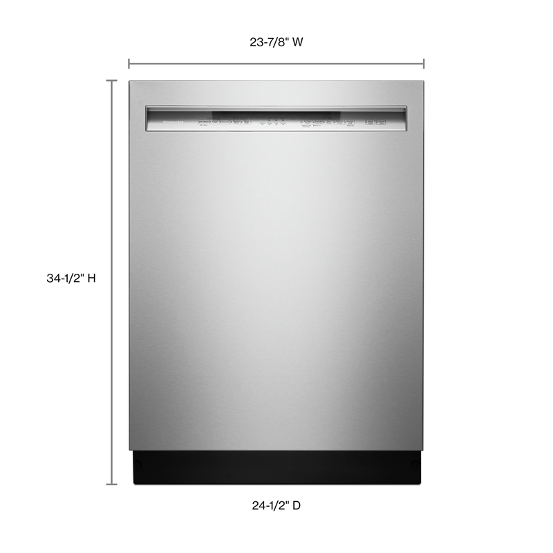 46 DBA Dishwasher with ProWash™ Cycle and PrintShield™ Finish, Front Control KDFE104HPS