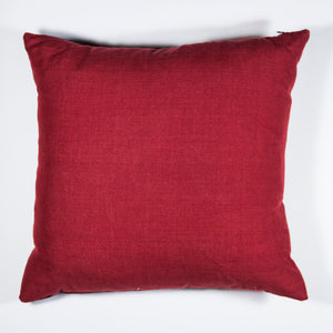 GEO Pillow Case handwoven in Guatemala by Living Threads Co. Artisans in Maroon - back