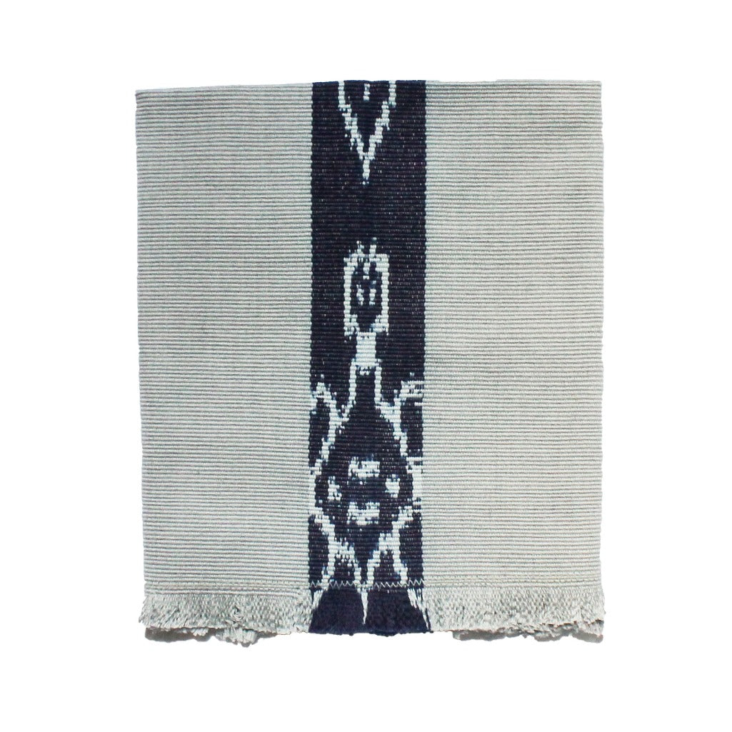 100% naturally dyed grey cotton cloth napkins handwoven in Guatemala by Living Threads Co. artisans on traditional backstrap looms.