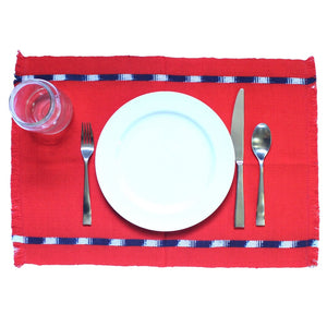 KAT placemats handwoven on mayan backstrap looms in Guatemala by Living Threads Co. artisans in Achiote