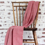 Living Threads Co. red herringbone 100% ecologically dyed cotton blanket by Living Threads Co. artisans.