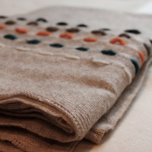 Living Threads Co. Cashmere TARA Pancho in Natural handwoven in Nepal by our partner artisans