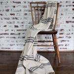 LA RAYADA handwoven cotton blanket by Living Threads Co. handmade by our partner artisans in Nicaragua