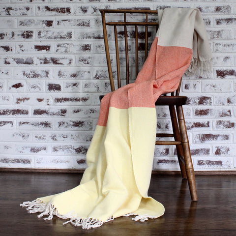 AMY | Blanket | Tangerine & Orange