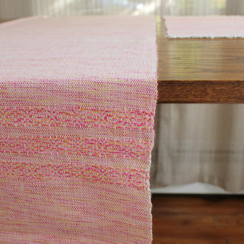 Nicaragua handwoven eco cotton sustainable table runner by living threads co artisans