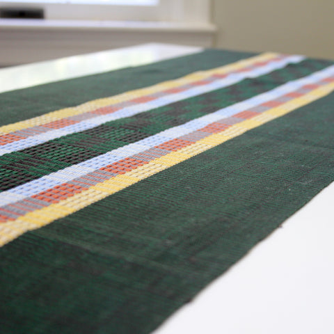 Vero handwoven naturally dyed table runner by Living Threads Co. artisans in Guatemala