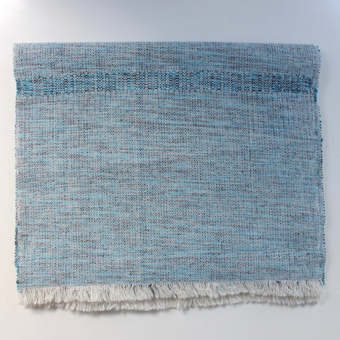 MOISES Table Runner by Living Threads Co. in Mixed Blue