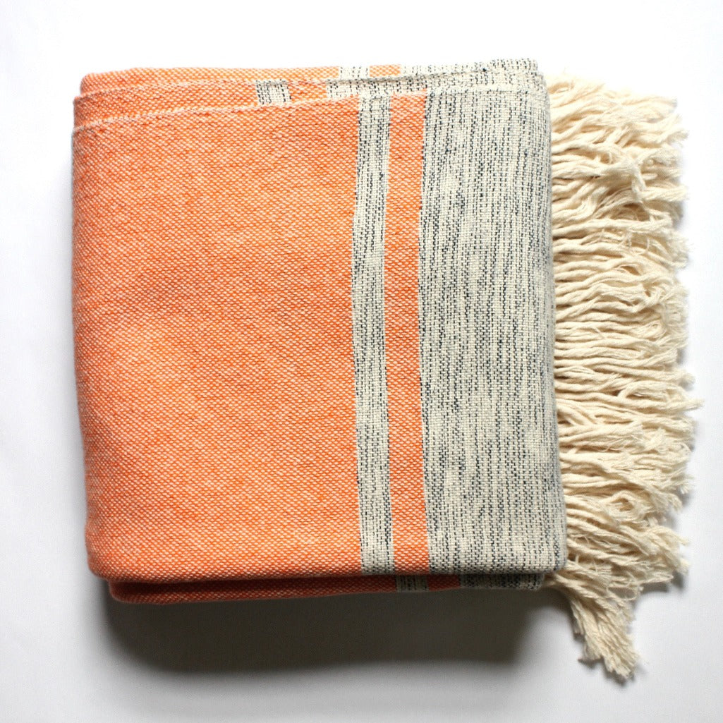 MIRA Handwoven cotton queen bed blanket created by Living Threads Co. artisans in Nicaragua