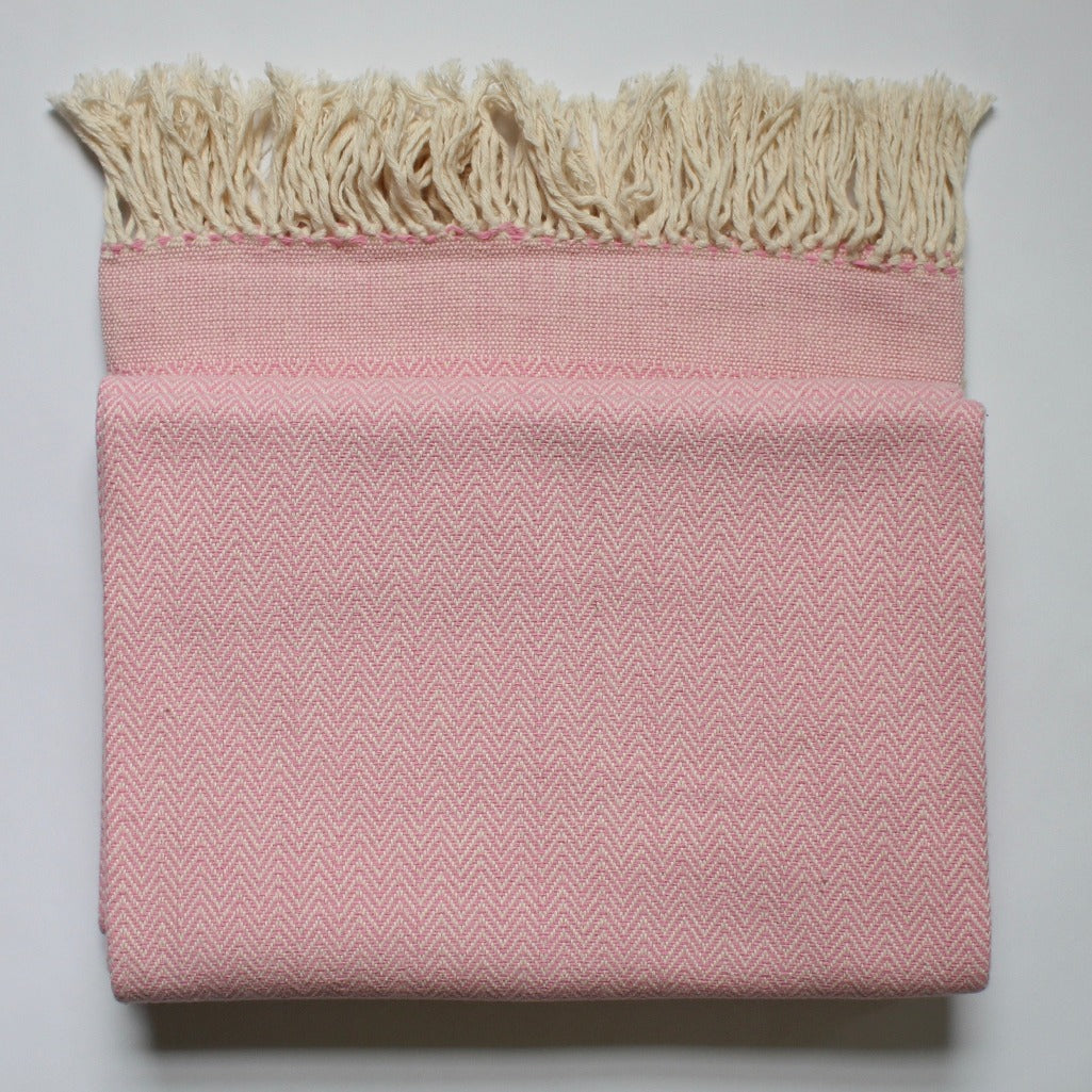 DANELIA Herringbone Blanket cotton handwoven by artisans in Nicaragua by Living Threads Co.