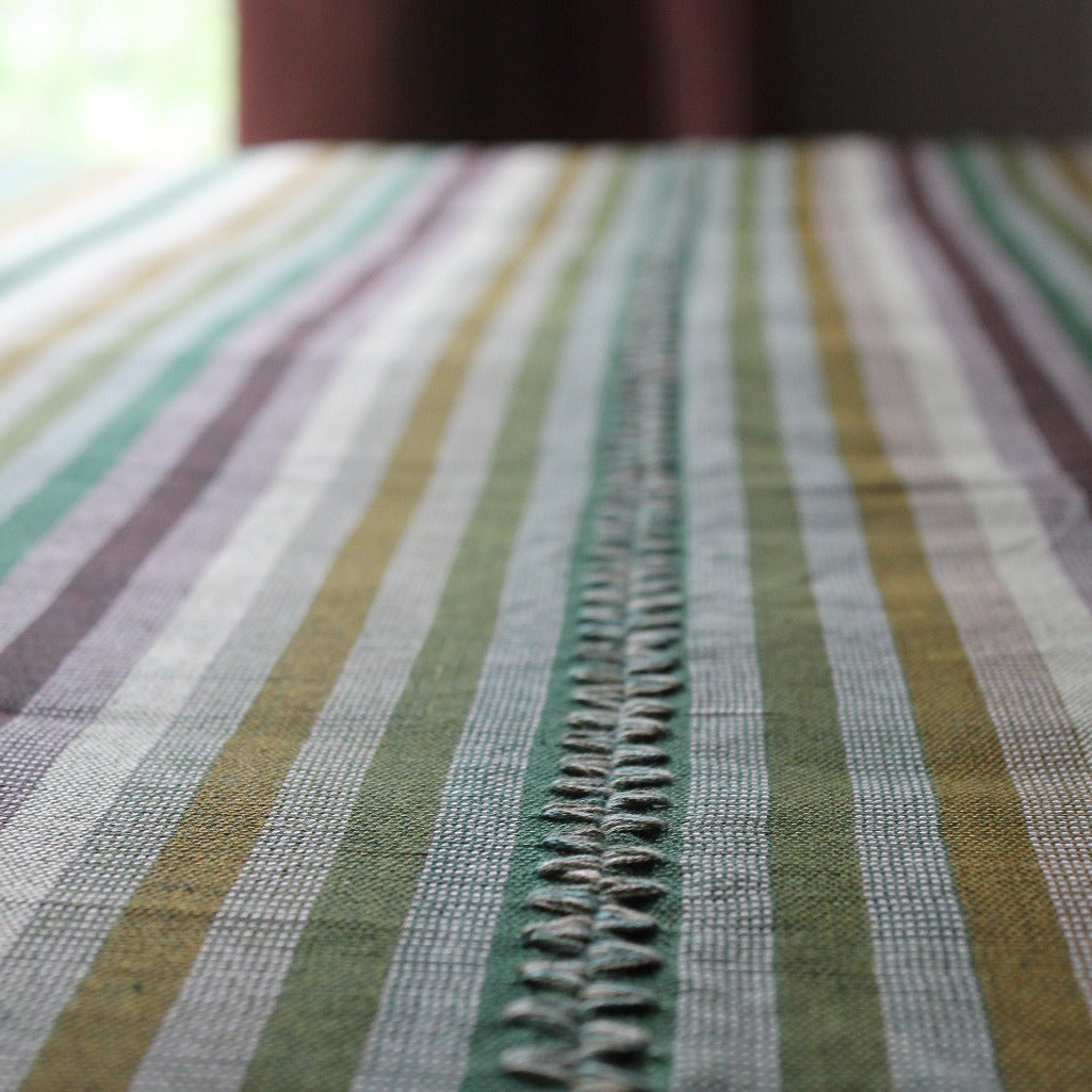 Living Threads Co. handwoven silk blanket/throw handcrafted by artisans in Guatemala.