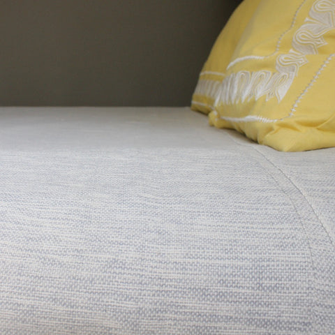 LILIAM Handwoven cotton queen bed blanket created by Living Threads Co. artisans in Nicaragua in Mixed grey