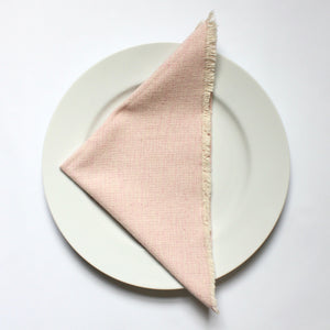 SERV Handwoven cotton napkins, set of 4, by Living Threads Co. artisans in PInk