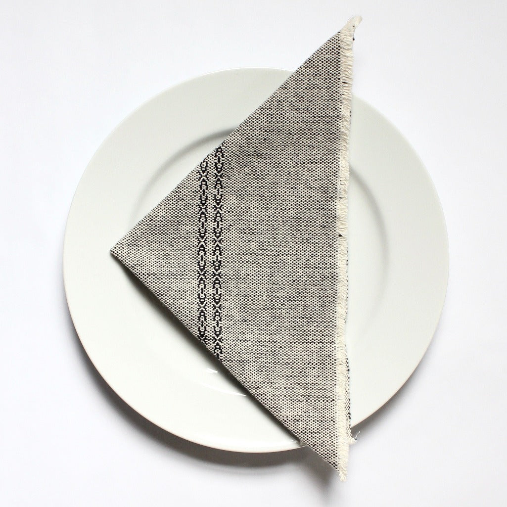 Handwoven cloth cotton napkins handmade by Living Threads Co partner artisans in Brown