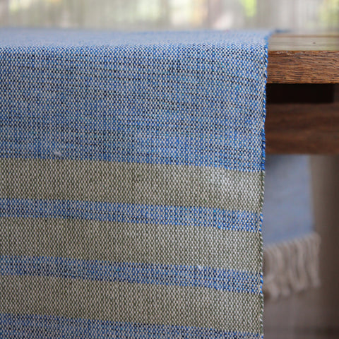 Handmade sustainable eco cotton table runner woven in Nicaragua by Living Threads Co