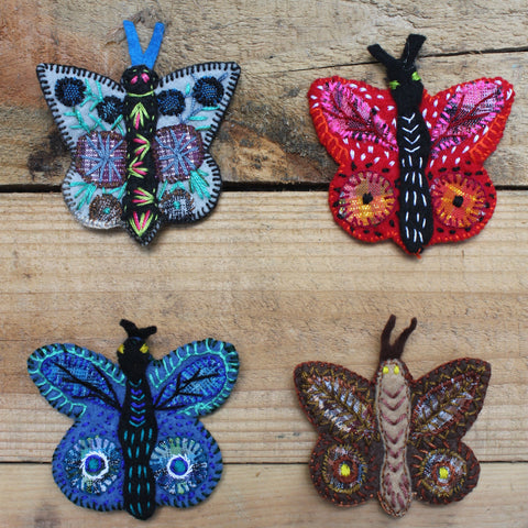 Hand stitched butterfly puppet by Living Threads Co. artisans in Guatemala