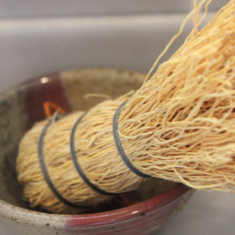 All natural Mexican root brush handmade in Mexico by Living Threads Co. partner artisans