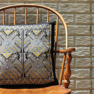 Handwoven BROC Mayan Pillow Case - Traditional Brocade technique by Living Threads Co. artisans