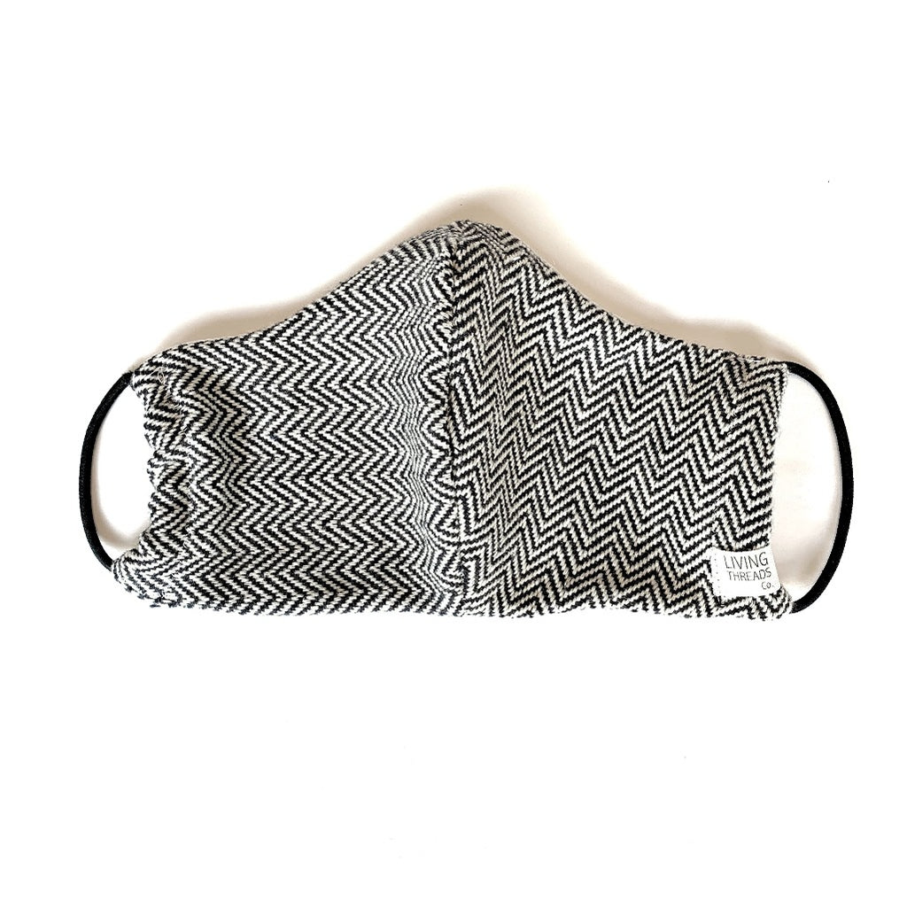 100% ecologically dyed cotton handwoven artisan made face mask for Coronavirus