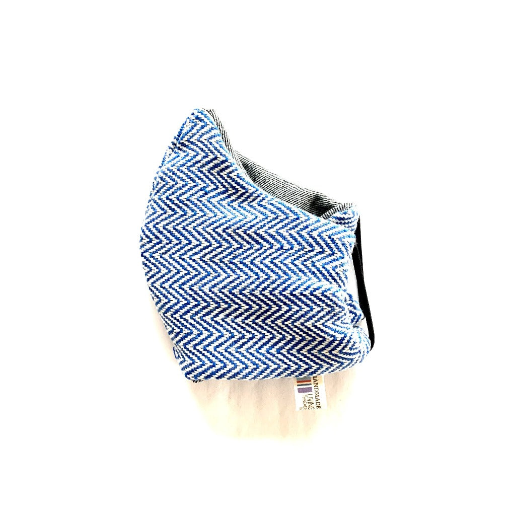 Cotton handwoven washable reusable face masks made with cotton that is 100% ecologically dyed