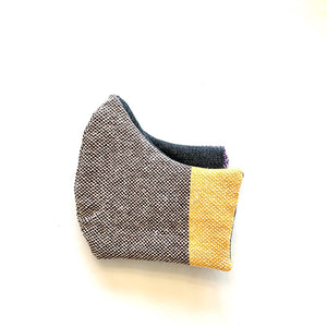 Brown face mask handwoven washable reusable sustainable with optional filter
