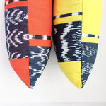 Ikat REC natural dye rectangular throw pillow cases by Living Threads Co. artisans