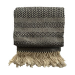 Handmade cotton solid birdseye throw and blanket handmade by Living Threads Co. artisans in Nicaragua in Black