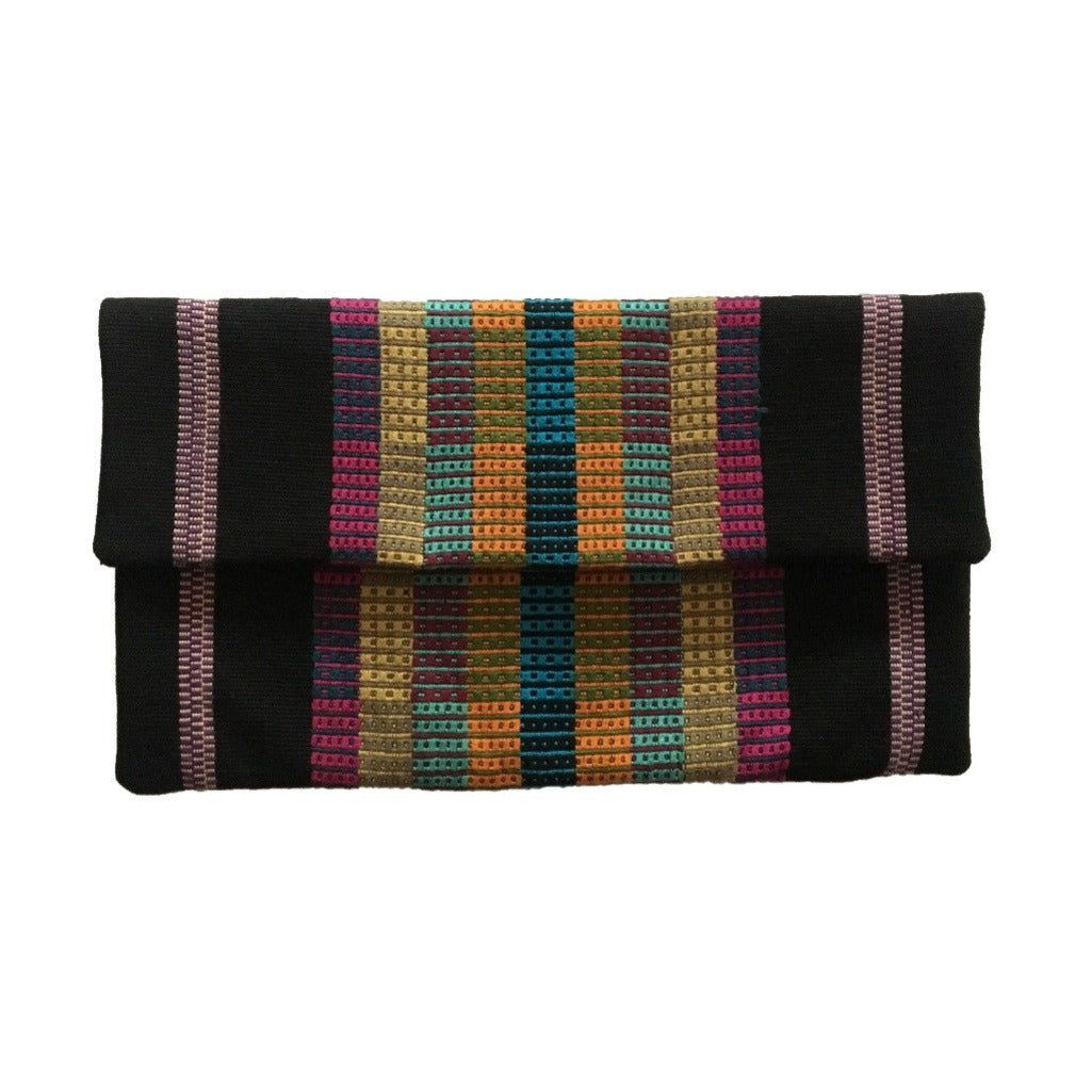 Handcrafted, naturally dyed clutch designed for The National Museum of Women in the Arts. Exclusively by Living Threads Co.