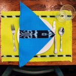 KAT placemats in chartreuse handwoven by skilled artisans in Guatemala