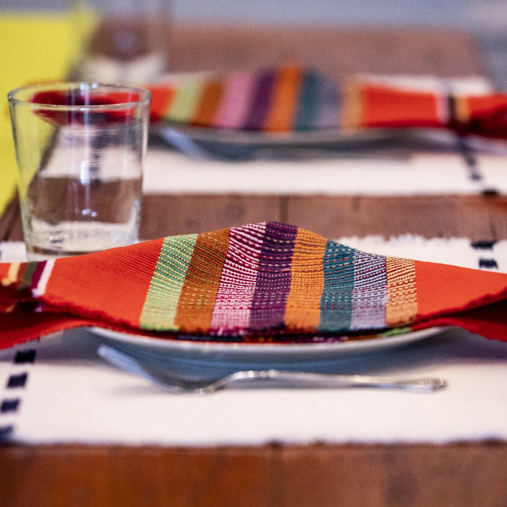 Ika Napkin by Living Threads Co. in Chartreuse handwoven natural dye