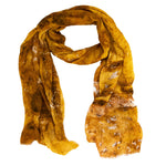 Burnt Gold handwoven bamboo silk scarf digital print by Living Threads Co.