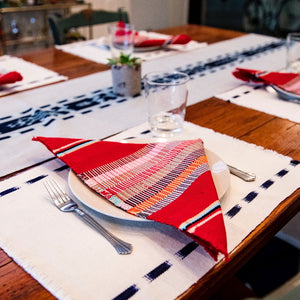 Ikat Natural Dye TAY table Runner handwoven by Living Threads Co. artisans