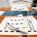 Natural Living Threads Co. Ikat placemats in Handwoven and naturally dyed in Guatemala