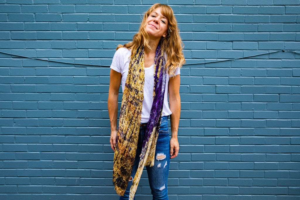 AINT | Living Threads Co. scarf made from handwoven Bamboo Silk Scarf by partner artisans in Nepal
