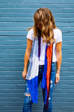 SOTB Handwoven bamboo silk scarf woven by Living Threads Co. partners in Nepal then digitally printed