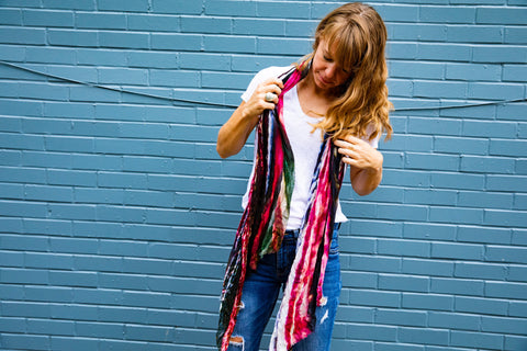 ESPAL | Bamboo Silk Scarf handwoven in Nepal by Living Threads Co. artisans