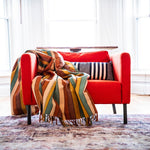 JUANA hand woven natural dye Living Threads Co. blanket in Suelo