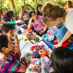 Living Threads Co. partner artisans in Guatemala working on our alphabet and number sets