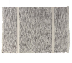 Handwoven 100% ecologically dyed cotton placemats in mixed grey and natural