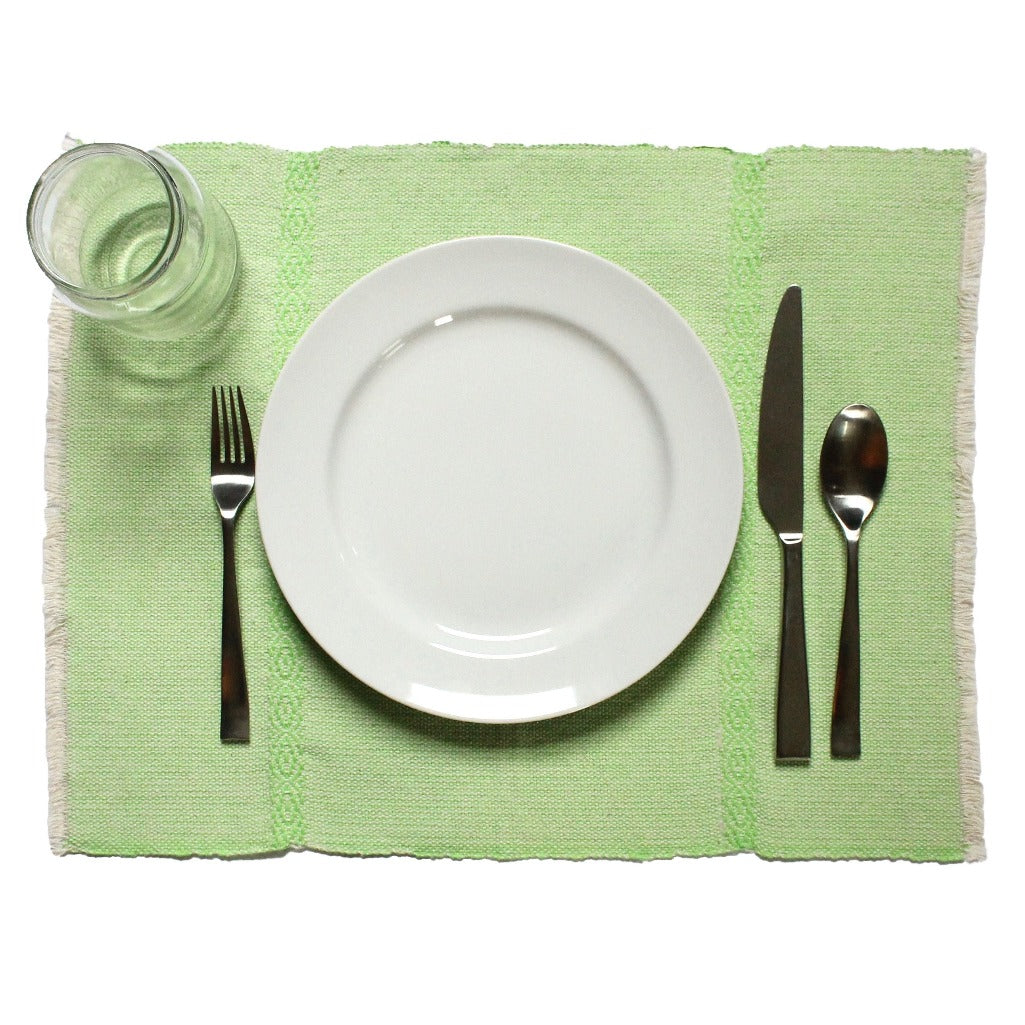Set of 4 LYN artisanal 100% ecologically dyed cotton placemats made by Living Threads Co. partners in Nicaragua