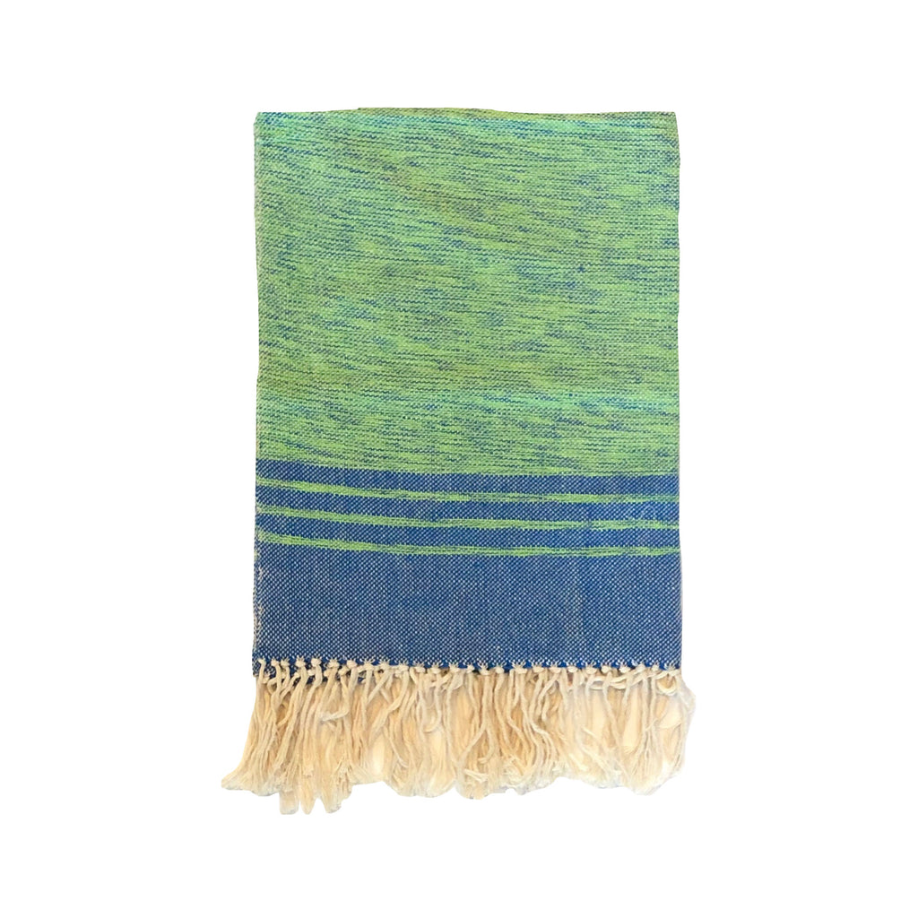 OALLA | Hand Towel | Green & Blue
