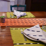 Chartreuse KAT Placemats set of 4 hand crafted by Living Threads Co. artisans in Guatemala