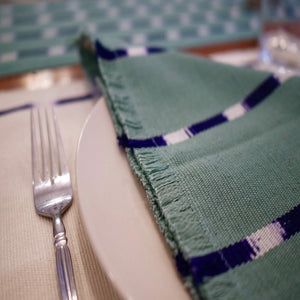UPE natural dye handwoven napkins by Living Threads Co.