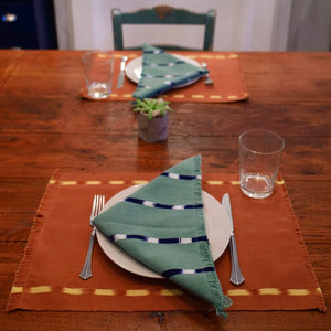 KAT placemats in chilca and ilamo handwoven by skilled artisans in Guatemala