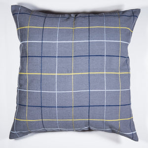 Blue PLAI Pillow Case made by Living Threads Co artisans in Guatemala.