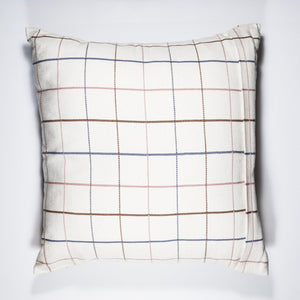 100% cotton and naturally dyed handwoven PLAI pillow case made by Guatemalan artisans on Mayan backstrap loom.