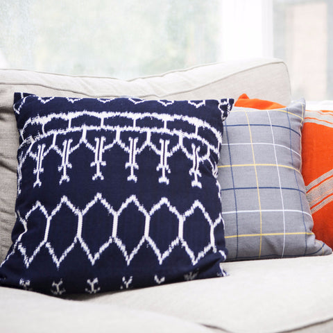 IKAT Pillow Case - Indigo