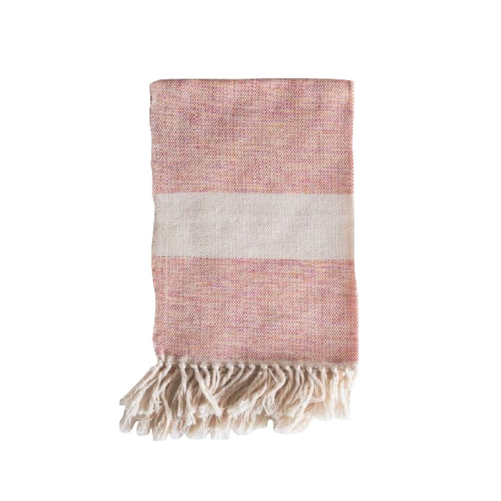 Handwoven 100% cotton artisanal hand towel by Living Threads Co