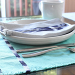 Guatemala handwoven natural dye cotton sustainable placemats by living threads co artisans