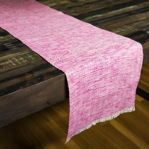 BE Table Runner handwoven in Nicaragua by Living Threads Co in Pink